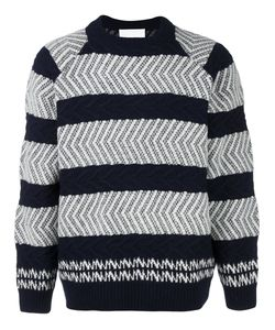 White Mountaineering | Textured Stripe Jumper