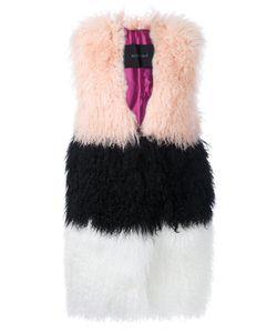 Blancha   Striped Sleeveless Coat
