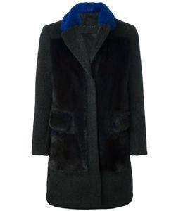 Blancha   Contrast Collar Coat