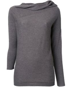 Forme D'expression | Draped Neck Longsleeve T-Shirt