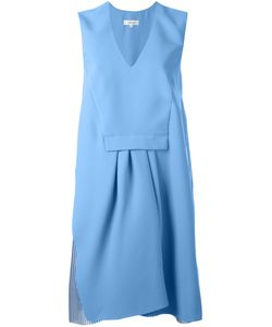Carven | Pleated V Neck Dress 38