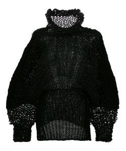 Comme Des Garçons Noir Kei Ninomiya | Open Loop Knitted Blouse