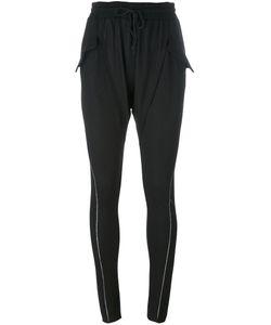A Tentative Atelier | Zip Detail Slim Harem Trousers