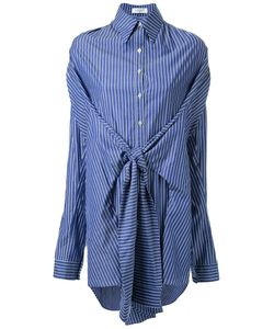 Fad Three | Striped Front Knot Shirt