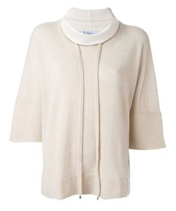 Blumarine | Roll-Neck Drawstring Jumper