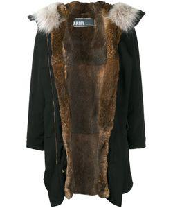 Army Yves Salomon   Rabbit Fur Lined Parka 38
