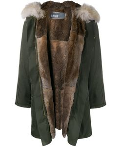 Army Yves Salomon   Rabbit And Coyote Fur Lined Parka