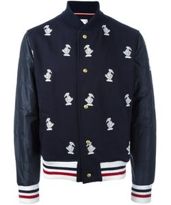 Moncler Gamme Bleu | Duck Embroidered Bomber Jacket Large