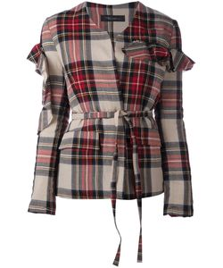 Area Di Barbara Bologna | Tartan Bow Sleeve Jacket 42