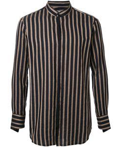 Strateas Carlucci   Mandarin Collar Striped Shirt