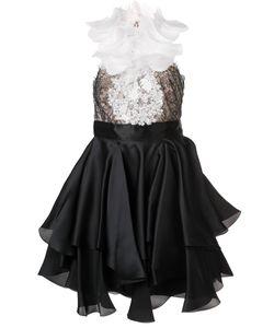 Marchesa | Embellished Ruffle Dress