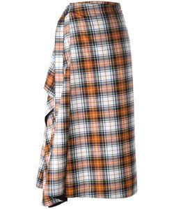 Cédric Charlier | Checked A-Line Skirt