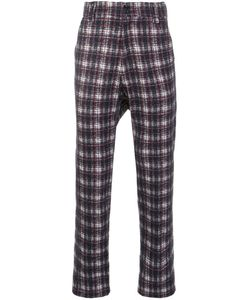 Aganovich | Drop Crotch Tartan Trousers