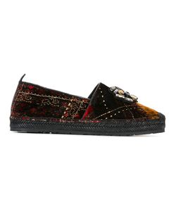 Etro | Embellished Plaid Slippers