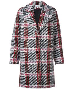 Carven | Plaid Single Breasted Coat 40