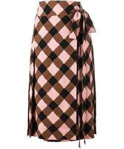 Marni   Checked Wrap Skirt