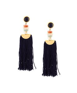 Lizzie Fortunato Jewels | Indigo Tassel Earrings