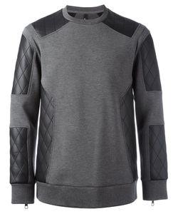 Neil Barrett   Quilted Panel Sweatshirt
