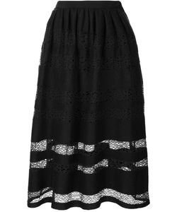 Jonathan Cohen | Felted Lace Patterned Skirt