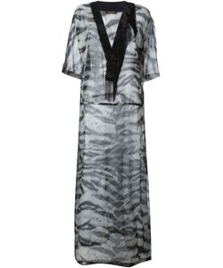 Roberto Cavalli | Sheer Zebra Print Kaftan Dress Small