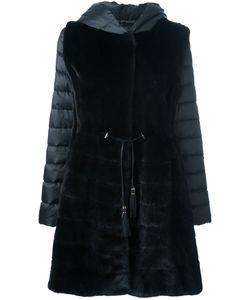 Liska   Mink Fur Hooded Puffer Coat Large Polyester/Mink
