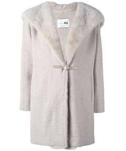 Manzoni 24 | Mink Fur Collar Hooded Coat