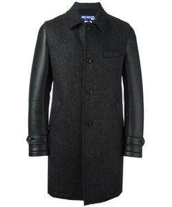 Junya Watanabe Comme Des Garçons   Man Leather Effect Sleeve Textured Coat