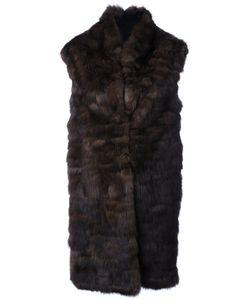 Liska   Cashmere Sleeveless Panel Coat