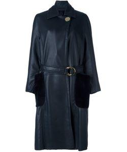 Petar Petrov | Belted Shearling Long Coat