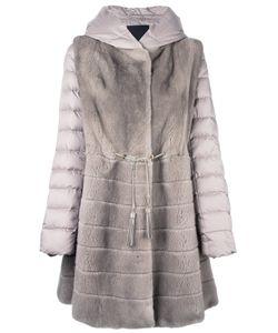 Liska   Mink Fur Hooded Puffer Coat Medium Mink