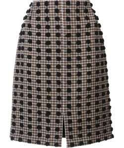 Sonia Rykiel | Plaid Pattern Straight Skirt