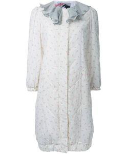 Jenny Fax   Ruffle Collar Print Coat