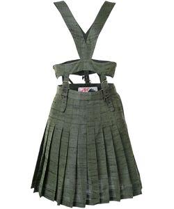 Jenny Fax   Harness Detail Pleated Skirt Dress