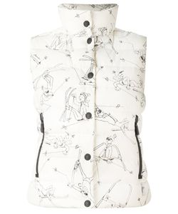 Moncler Grenoble | Ski Trip Print Sleeveless Puffer Jacket