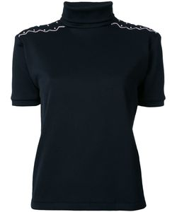 Jenny Fax   Patterned Shoulder Roll Neck Top