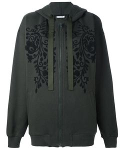 P.A.R.O.S.H. | Embroidered Florals Zip Up Hoodie