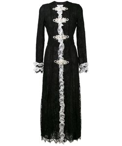 Alessandra Rich   Ruffled Lace Maxi Dress 38