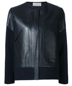 Maison Ullens | Cotton Sleeves Leather Jacket