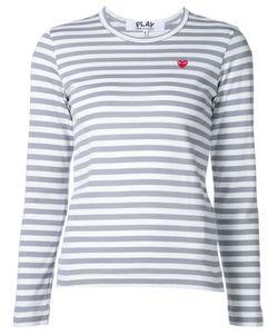 Comme Des Garçons Play   Mini Heart Striped T-Shirt