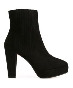 Sonia Rykiel | Chunky Heel Ankle Boots 38 Suede/Leather