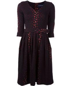 Samantha Sung | Jacquard Flared Dress Xs Wool/Silk