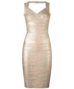 Hervé Léger   Fitted Dress Large