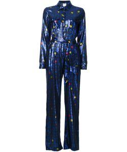 Ingie Paris   Pleated Jacquard Jumpsuit 40 Silk/Polyester