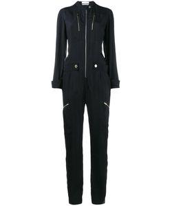 Chloé | Zip Front Jumpsuit 36 Viscose/Acetate/Silk