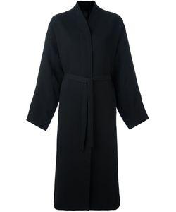 Ilaria Nistri   Concealed Fastening Belted Coat 42 Viscose/Virgin
