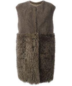Blancha | Shearling Panelled Coat 42 Sheep Skin/Shearling