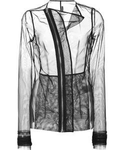 Rick Owens Lilies | Curved Zip Sheer Jacket