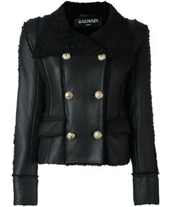 Balmain | Double Breasted Shearling Coat Lamb Skin/Lamb