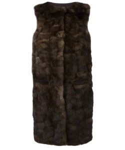 Liska | Malvai Sleeveless Fur Coat Medium Cashmere/Sable