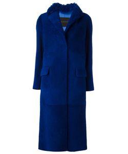 Blancha | Single Breasted Coat 42 Merino/Sheep Skin/Shearling